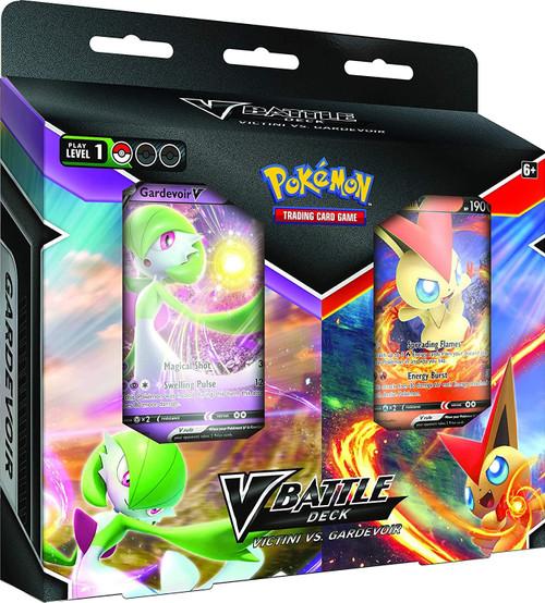 Pokemon TCG Victini V vs Gardevoir V Battle Deck In Bundle Case (Pack of 6)