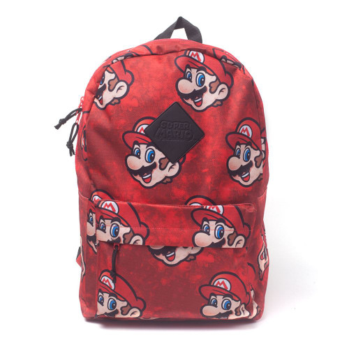 Nintendo Super Mario Bros. Sublimation Backpack Casual Daypack 28cm 20L - Red