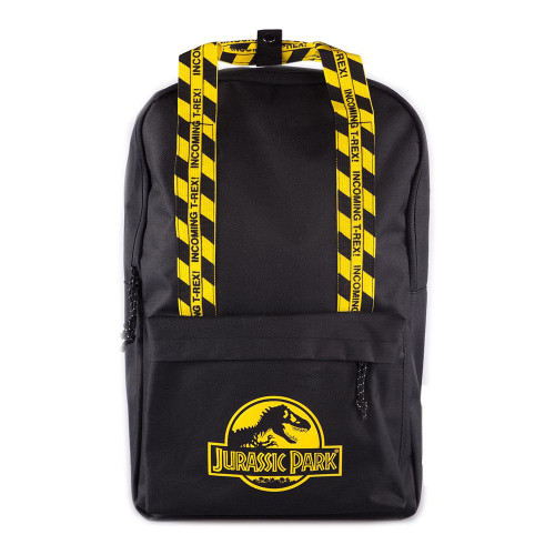 Universal Jurassic Park Logo Backpack Unisex Black/Yellow (BP127275JPK)