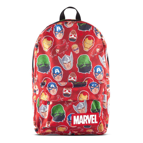 Marvel Comics Characters All-Over Print Backpack - Red/Black (BP664172MVL)