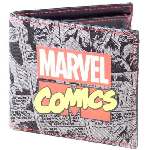Marvel Comics Retro Classic Comic Book AOP Bi-fold Wallet Male MW341758MAR