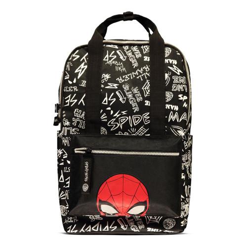 Marvel Comics Graffiti All-over Print Backpack Unisex - Black (BP188688MVL)