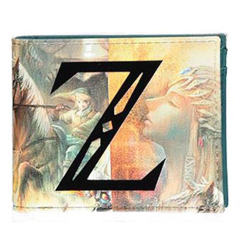 The Legend of Zelda Z Logo All-over Print Bi-fold Wallet Male Multi-colour
