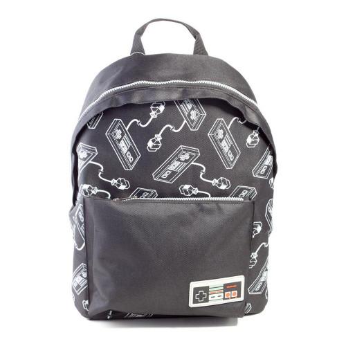 Nintendo NES Controller All-Over Print Backpack Unisex Black (BP444453NTN)