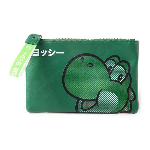 Super Mario Bros. Rubber Yoshi Face Purse Wallet Womens Green (GW552306NTN)
