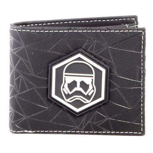 Star Wars Rise of Skywalker Sith Trooper Badge Bi-fold Wallet Male Black