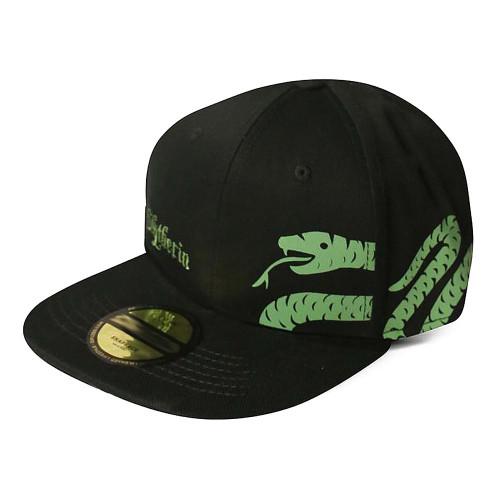 Harry Potter Slytherin Logo & Symbol Snapback Baseball Cap - Black (SB107336HPT)
