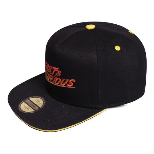 Fast & Furious Gradient Logo Snapback Baseball Cap - Black/Yellow (SB240745FTF)