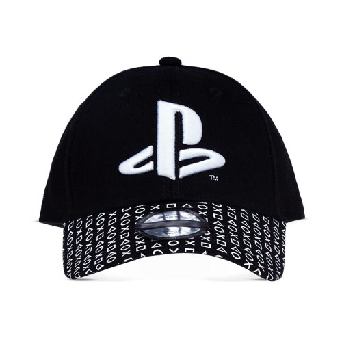 Sony Playstation Logo Baseball Cap Unisex - Black/White (BA322016SNY)