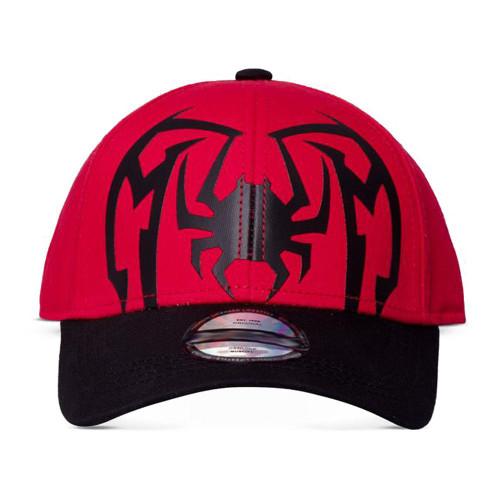 Marvel Comics Spider-man Spider Logo Kid's Arch Baseball Cap - Black/Red