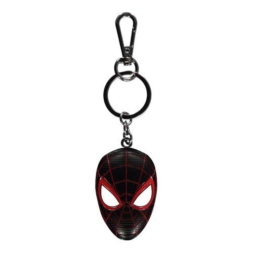 Spider-man Miles Morales Mask 3D Keychain Unisex - Black/Red (KE204112SPN)