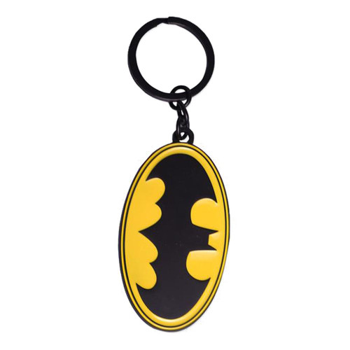 Dc Comics Batman Classic Logo Metal Keychain Yellow/Black (KE075536BAT)