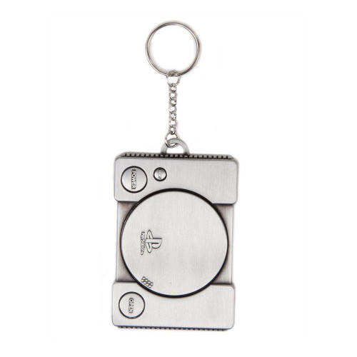 Sony Playstation Console Metal 3D Keychain Silver (KE150318SNY)