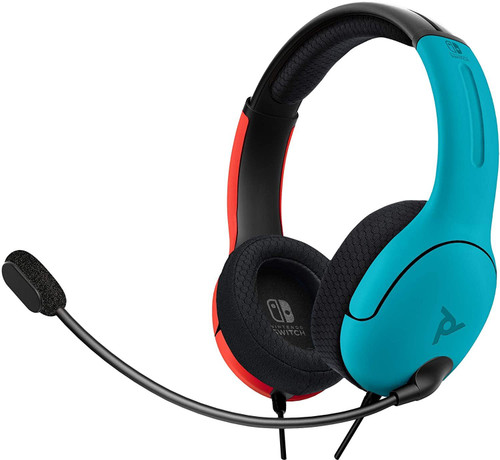 PDP LVL40 Wired Stereo Gaming Headset For Nintendo Switch - Blue/Red
