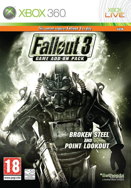 Fallout 3 Broken Steel and Point Lookout Xbox 360 Game