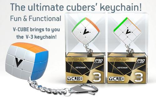 Keychain V-Cube 3 Flat Toy