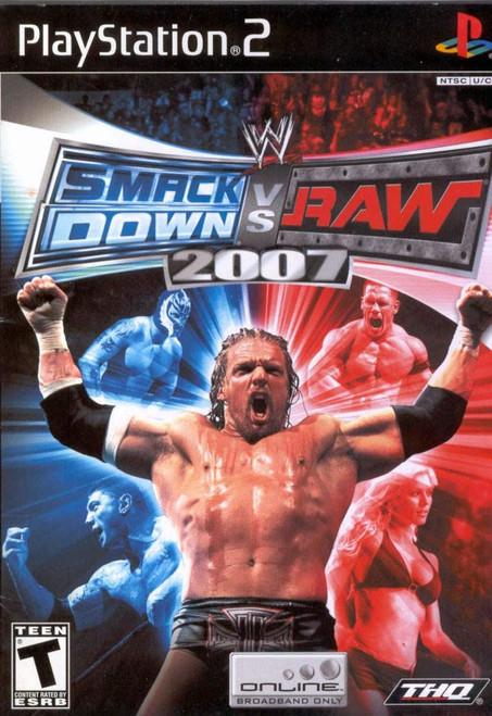 WWE SmackDown! vs RAW 2007 + WWE New Years Revolution DVD PS2 Game (Italian Box)