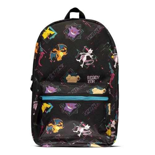 Pokemon Characters All-Over Print Backpack Black (BP100104POK)