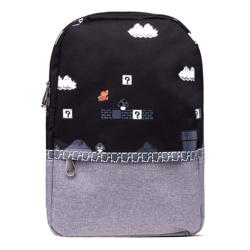 Mario Bros 8-Bit Classic Mario Gameplay All-Over Print Backpack Multi-colour