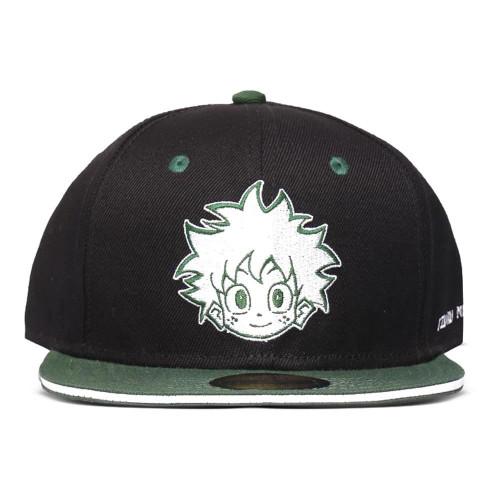 My Hero Academia Logo Snapback Baseball Cap - Black/Green (SB812765MHA)