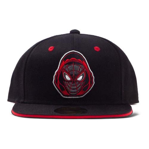 Marvel Comics Spider-man Miles Badge Snapback Baseball Cap Black/Red SB748166SPN