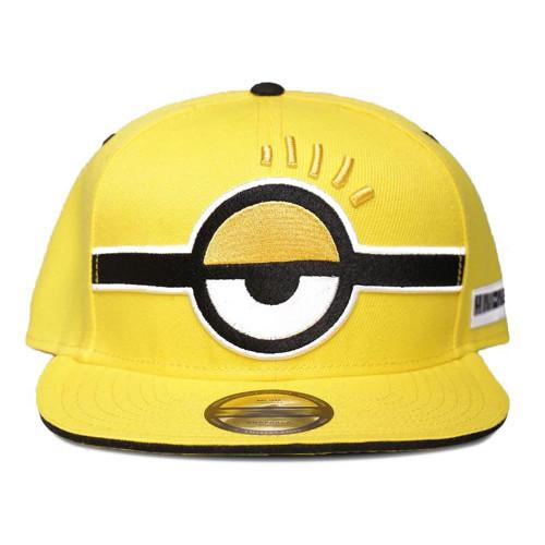 Minions Unimpressed Eye Snapback Baseball Cap - Yellow (SB012027DSP)