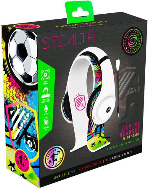 Stealth XP Gaming Headset Street Bundle with Stand - White