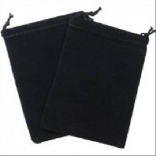 Small Suede Dice Bags - Black (Pack of 10)