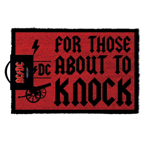 AC/DC For Those About To Knock Doormat - Gaming Merchandise