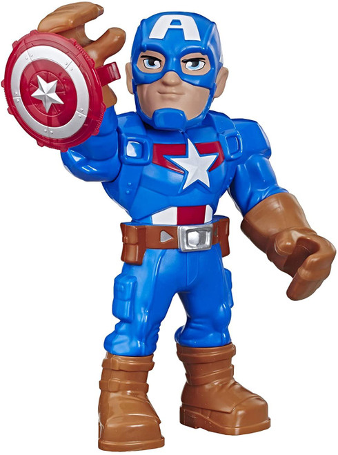 Super Hero Adventures Mega Mighties - Captain America 10inch Figure Kids Toy