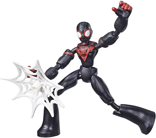 Spiderman Bend and Flex Miles Morales Action Kids Toy