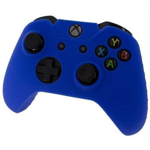 Assecure pro silicon skin grip protective cover rubber bumper case Xbox One Blue