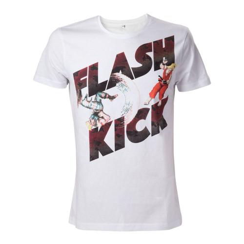 Capcom Street Fighter IV Adult Male Guiles Flash Kick T-Shirt S Size - White
