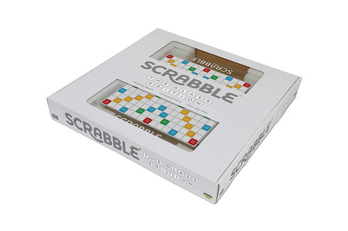 Tinderbox Games Scrabble: The Glass Edition Rotating Board Game