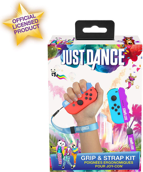 Subsonic Just Dance Grip & Strap Kit For Nintendo Switch
