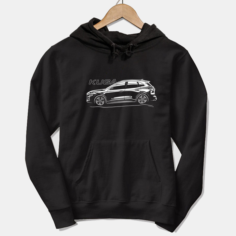 AUTOTEES DESIGN UNISEX HOODIE FOR FORD NEW KUGA CAR ENTHUSIASTS (v1)