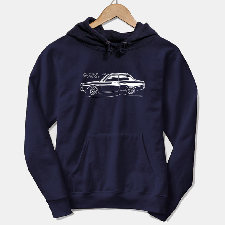 AUTOTEES DESIGN UNISEX HOODIE FOR FORD ESCORT MK1 MEXICO CAR ENTHUSIASTS (v1)