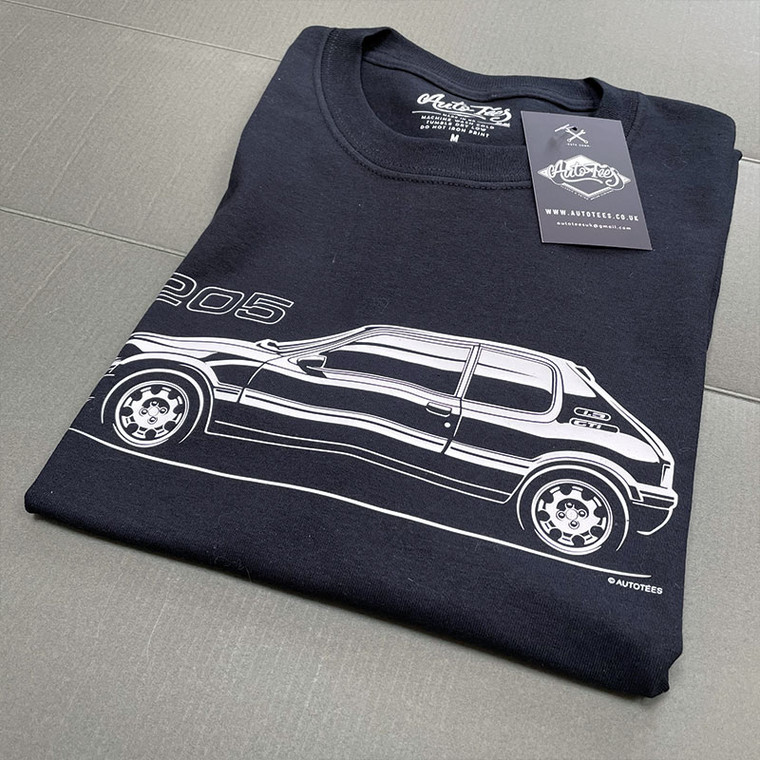 AUTOTEES DESIGN T-SHIRT FOR 205 1.9 CAR ENTHUSIASTS (v1)