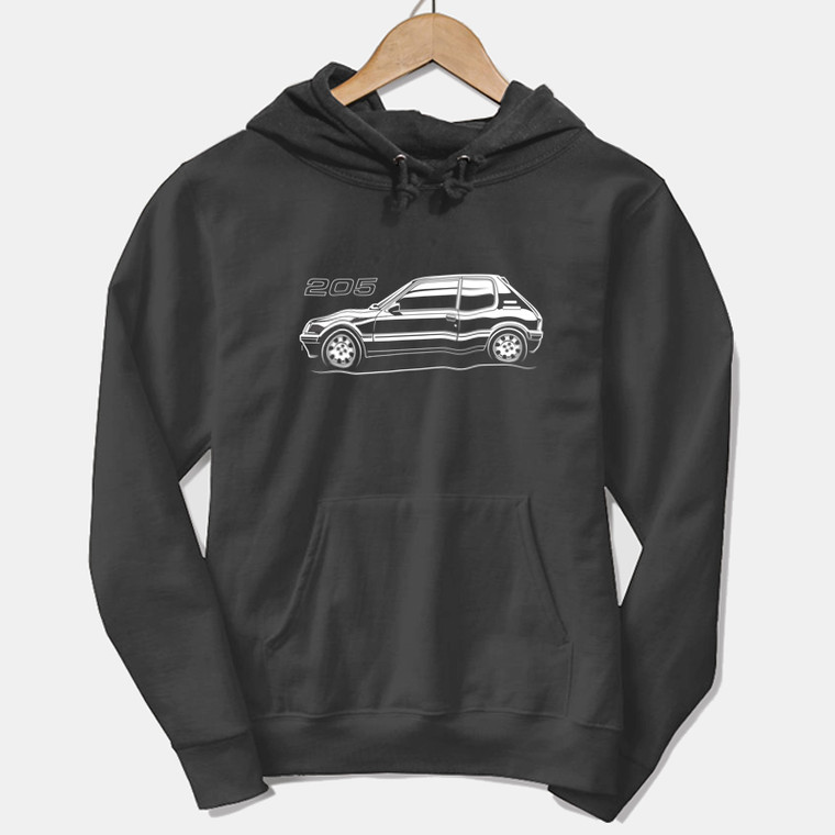 AUTOTEES DESIGN UNISEX HOODIE FOR 205 1.9 CAR ENTHUSIASTS (v1)