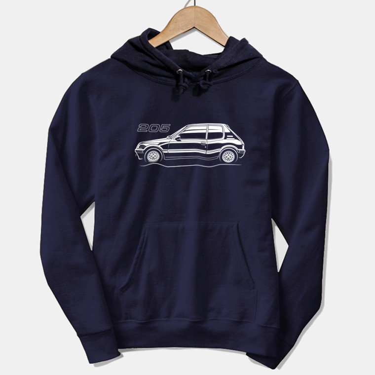 AUTOTEES DESIGN UNISEX HOODIE FOR 205 1.6 CAR ENTHUSIASTS (v1)