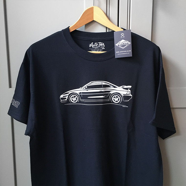 AUTOTEES DESIGN T-SHIRT FOR TOYOTA MR2 MK2 SW20 CAR ENTHUSIASTS (v1)