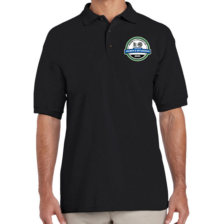 BUY NOW! - OFFICIAL TRIUMPH & MG WEEKEND 2021 EVENT POLO-SHIRT - TRIUMPH & MG WEEKEND 2021 LEFT CHEST LOGO PRINT