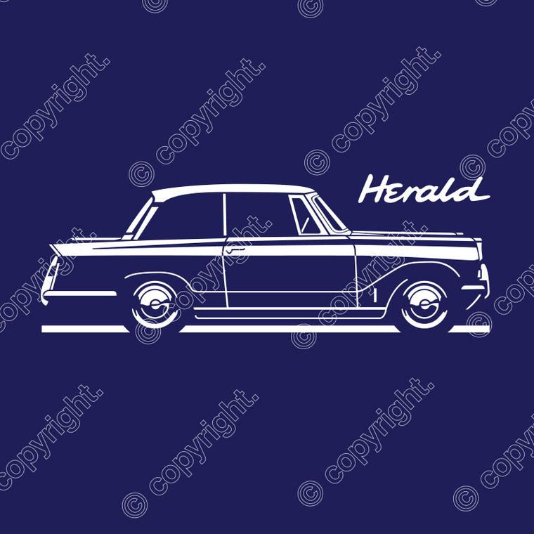 AUTOTEES ORIGINAL T-SHIRT FOR TRIUMPH HERALD SALOON CAR ENTHUSIASTS