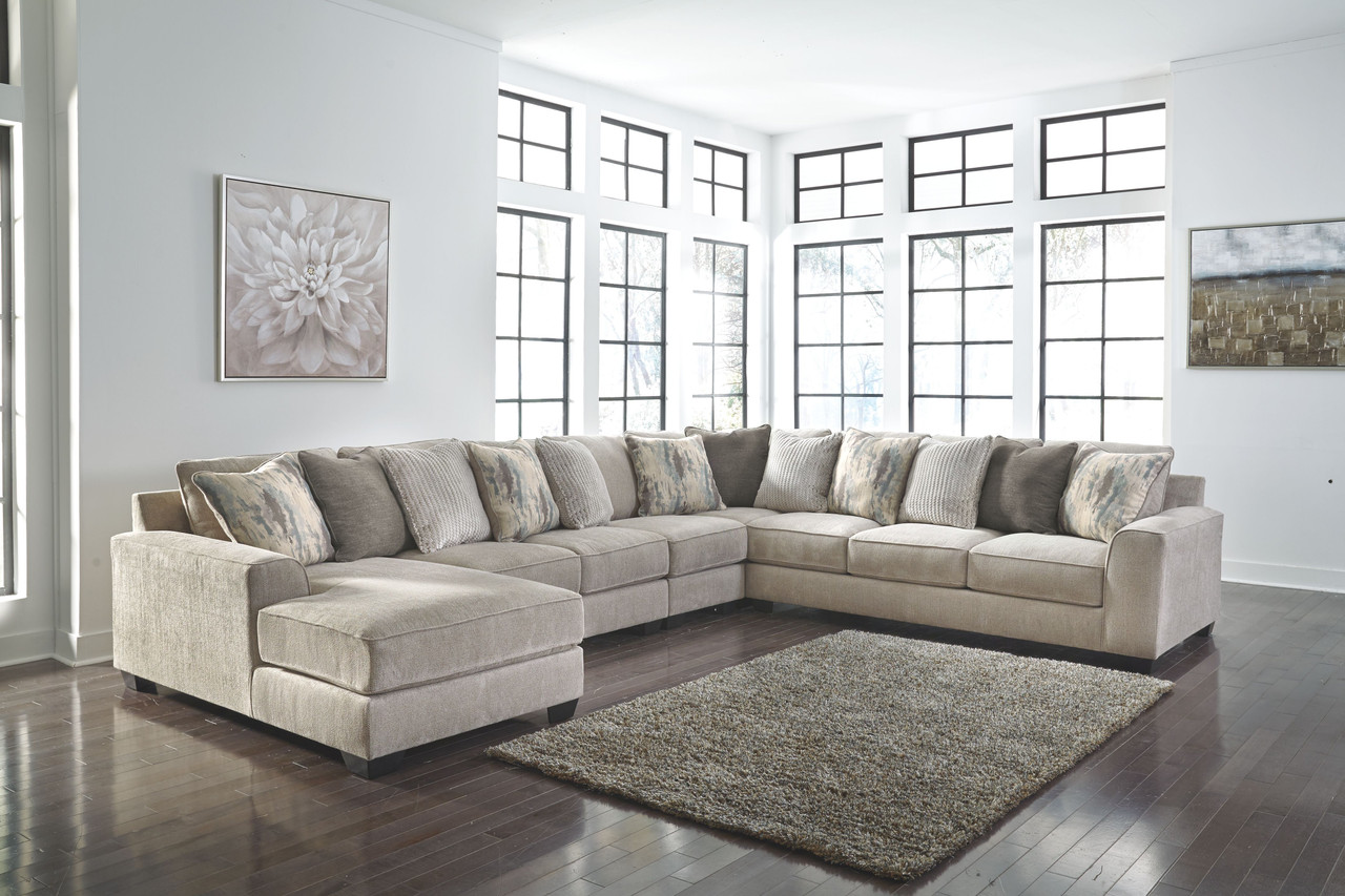 Ardsley Pewter Laf Corner Chaise Armless Loveseat Armless Chair Wedge Raf Sofa Couch Sectional