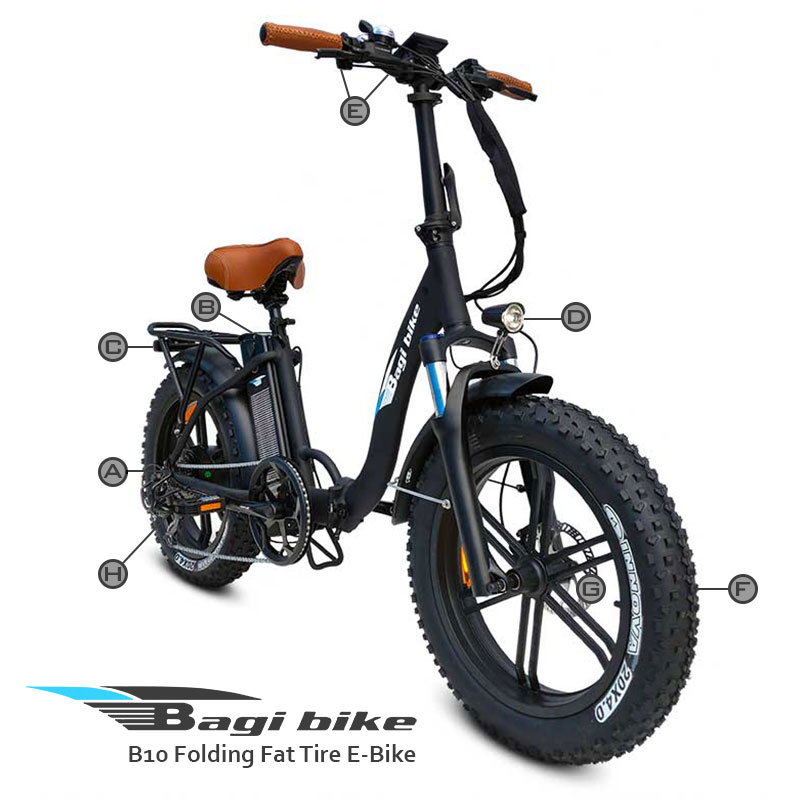 BagiBike B10 Folding Fat Tire E-bike