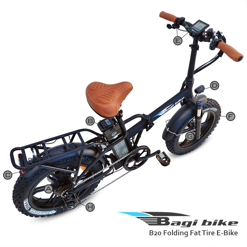 Bagi Bike B20 Folding Fat Tire E-Bike