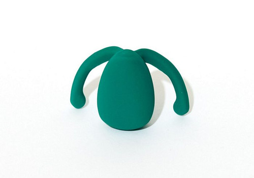 Eva 2 Hands Free Couples Vibrator by Dame Products-Fir Green