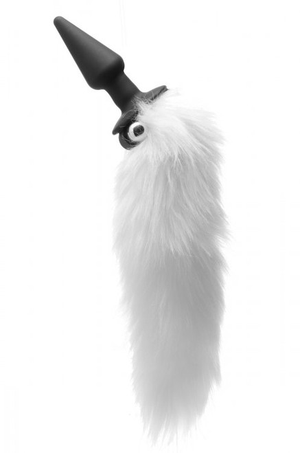 Tailz White Fox Tail Vibrating Anal Plug by XR Brands