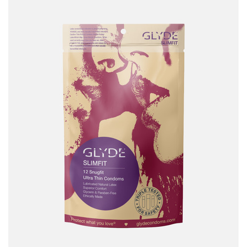 Slimfit Condoms by Glyde America-12 Pack