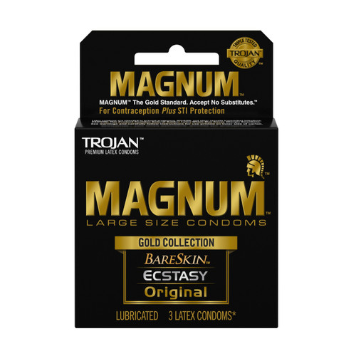 Trojan Magnum Gold Collection Lubricated Condoms 3 Pack